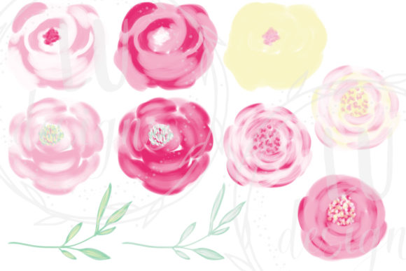 Download Free Wedding Pink Flowers Floral Clipart Graphic By Lu Designs for Cricut Explore, Silhouette and other cutting machines.