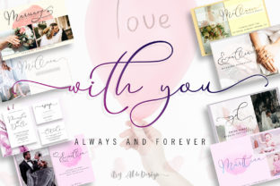 Print on Demand: With You Script & Handwritten Font By aldedesign 1