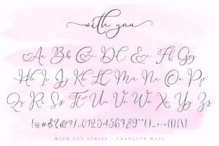 Print on Demand: With You Script & Handwritten Font By aldedesign 11