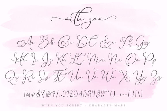 Print on Demand: With You Script & Handwritten Font By aldedesign - Image 11