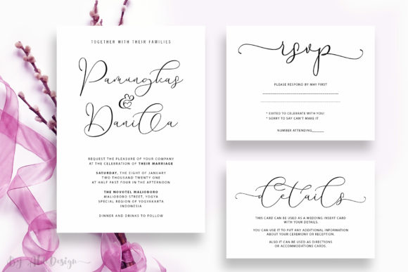 Print on Demand: With You Script & Handwritten Font By aldedesign - Image 3