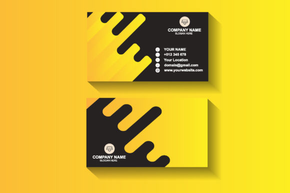Yellow Business Card Design Template Graphic Print Templates By sartstudio
