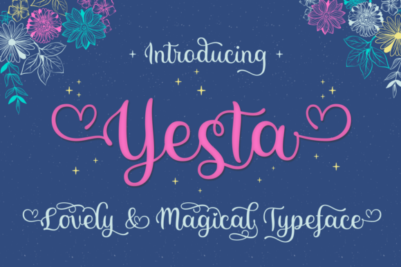 Print on Demand: Yesta Script & Handwritten Font By Situjuh