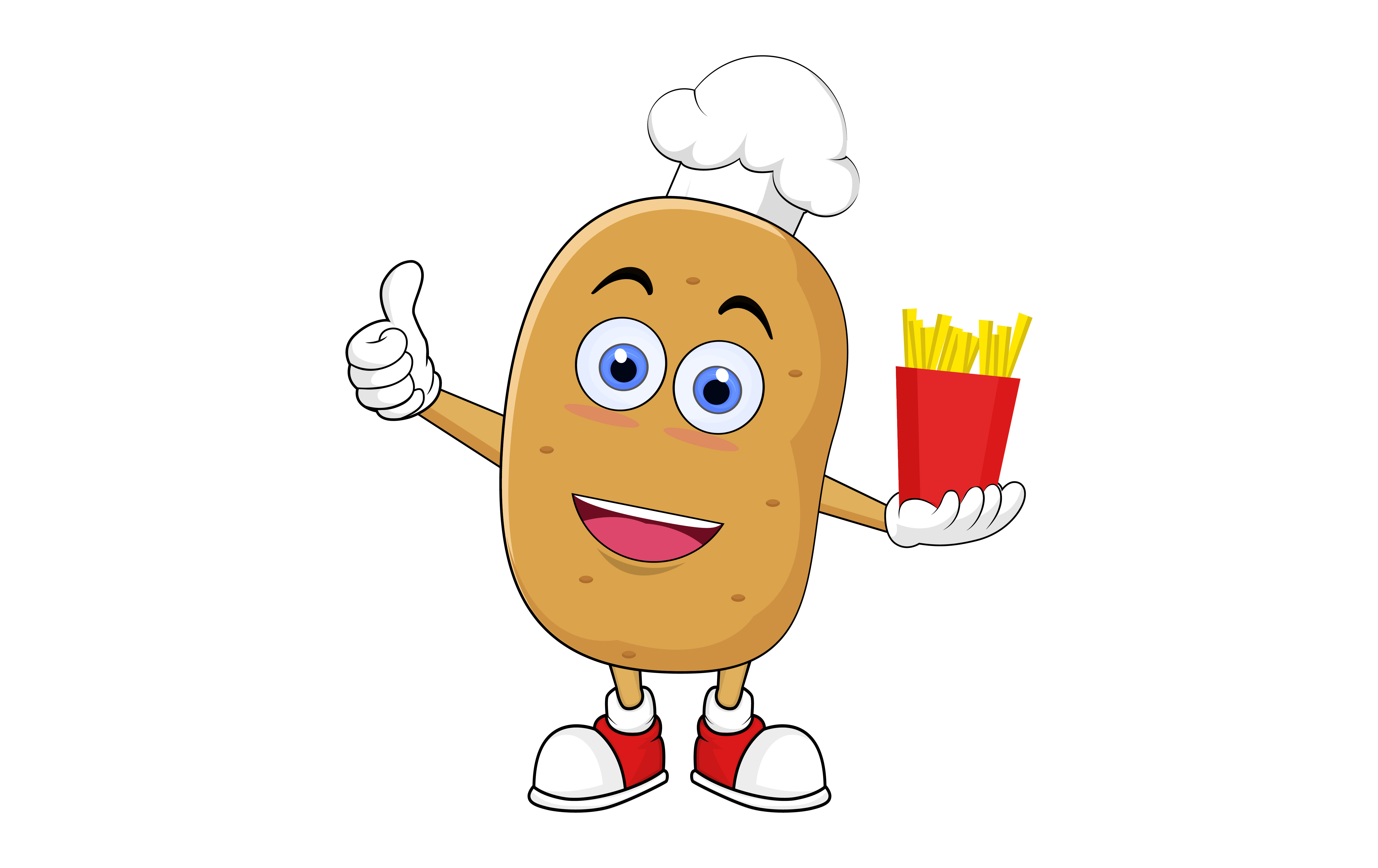 Download Free Cute Potato Cartoon Giving Thumb Up Graphic By Ngabeivector SVG Cut Files