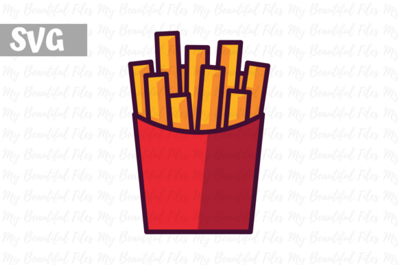 Download Free French Fries Icon Svg Graphic By Mybeautifulfiles Creative Fabrica for Cricut Explore, Silhouette and other cutting machines.