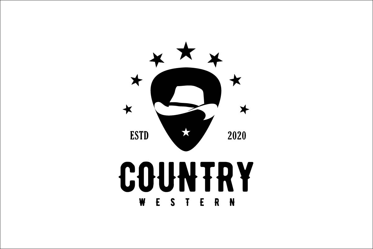 Download Free Guitar Pick Western Country Music Graphic By Artpray Creative for Cricut Explore, Silhouette and other cutting machines.