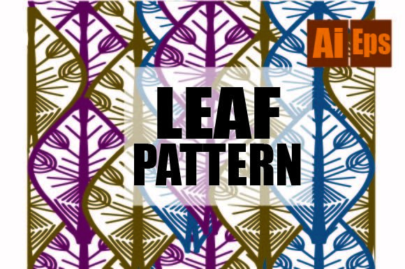 Leaf Pattern Design Graphic Backgrounds By ahmaddesign99