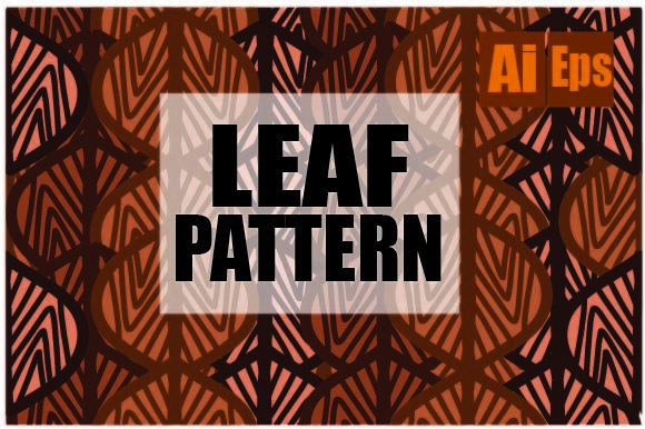 Leaf Pattern Design Vector Graphic Backgrounds By ahmaddesign99