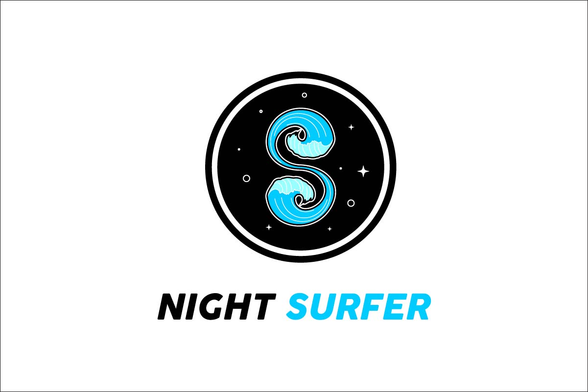 Letter S Night Surfer Graphic By Artpray Creative Fabrica