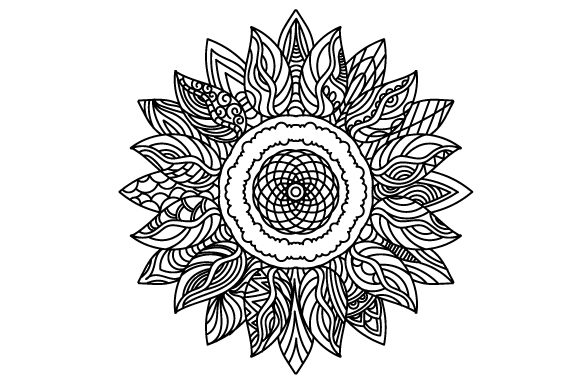 Sunflower Mandalas Plotterdatei von Creative Fabrica Crafts