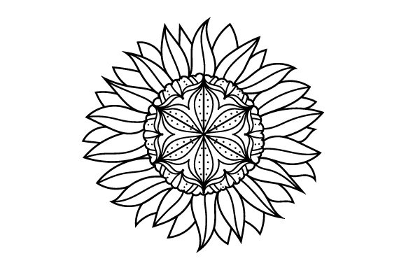 Sunflower Mandalas Craft Cut File By Creative Fabrica Crafts