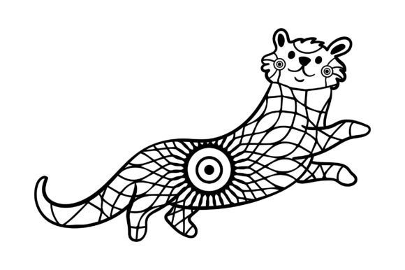 Download Free Otter Mandala Style Svg Cut File By Creative Fabrica Crafts for Cricut Explore, Silhouette and other cutting machines.
