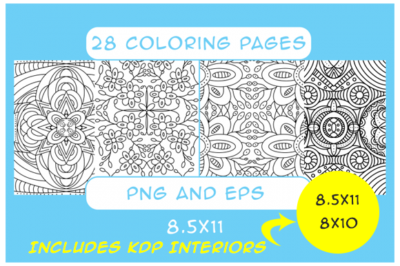 Print on Demand: 28 Pattern Coloring Pages KDP Interior Graphic Coloring Pages & Books Adults By Designs By David