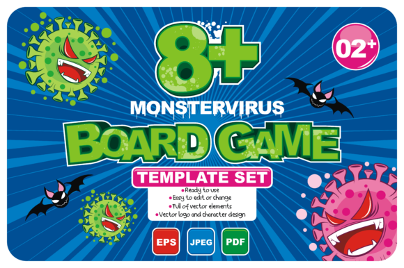 Download Free 8 Board Game Template Set Graphic By Azkaryzki Creative Fabrica for Cricut Explore, Silhouette and other cutting machines.
