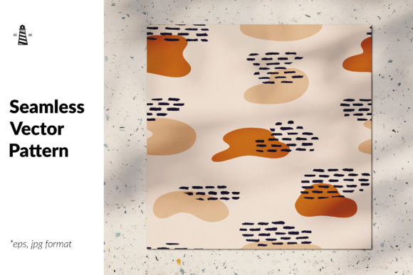 Print on Demand: Abstract Terracotta Seamless Pattern Graphic Patterns By northseastudio