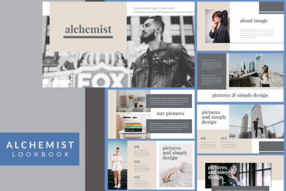 Download Free Alchemist Lookbook Powerpoint Template Graphic By Mindtype Co for Cricut Explore, Silhouette and other cutting machines.