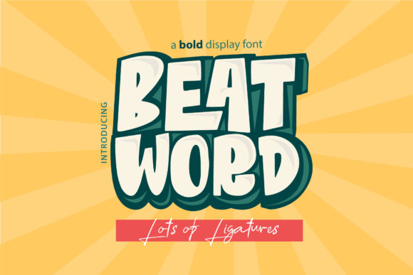 Print on Demand: Beat Word Display Font By DK Project