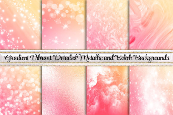 Beautiful Bokeh Gradient Backgrounds Graphic Backgrounds By AM Digital Designs