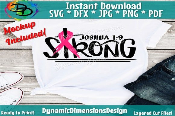 Download Free Breast Cancer Strong Graphic By Dynamicdimensions Creative Fabrica for Cricut Explore, Silhouette and other cutting machines.