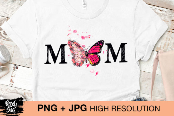 Download Free Butterfly Mom Graphic By Roxysvg26 Creative Fabrica for Cricut Explore, Silhouette and other cutting machines.
