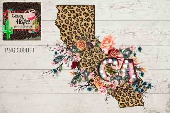 Print on Demand: California CA Serape Leopard Graphic Illustrations By Crazy Heifer Design Shoppe