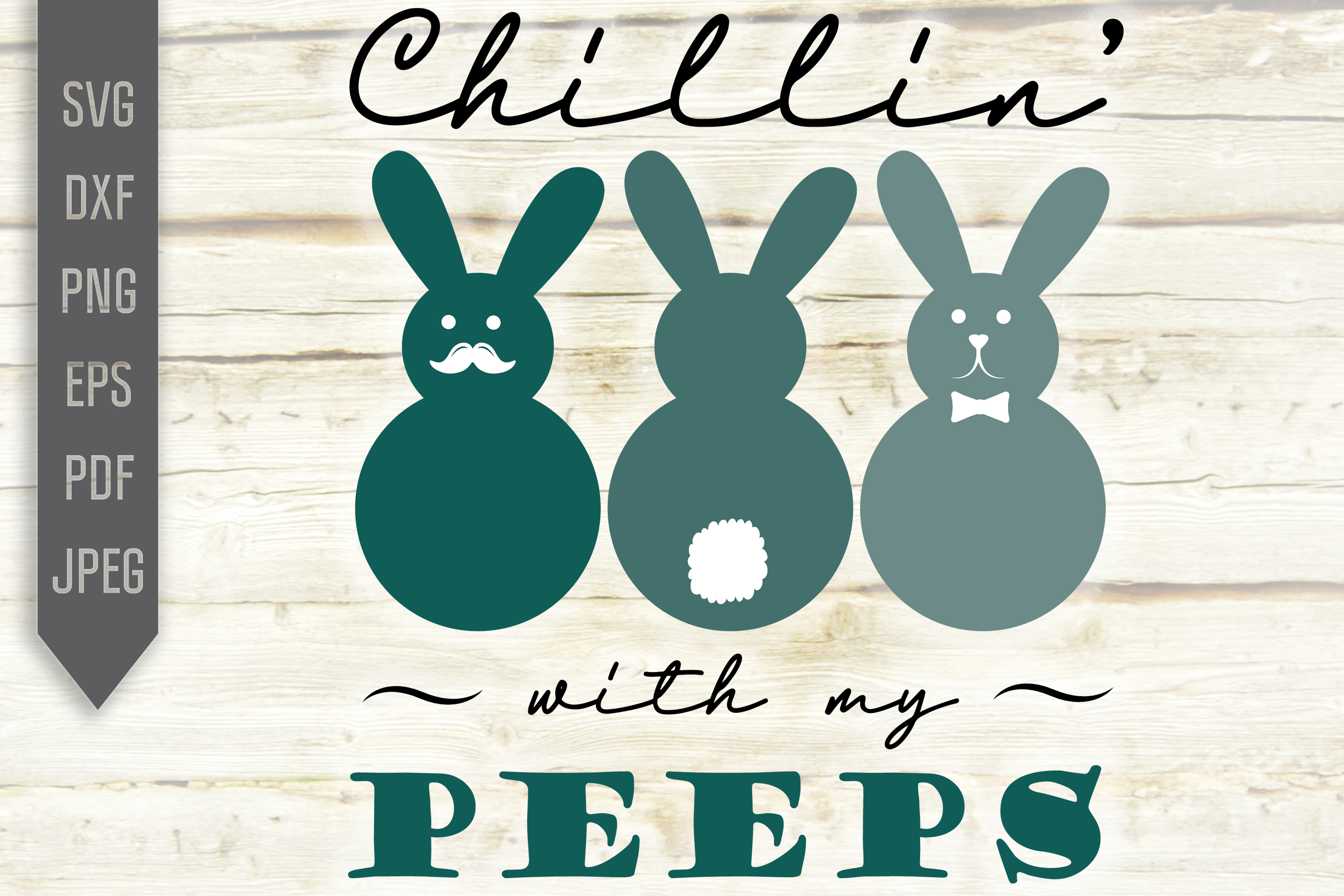 Download Free Chillin With My Peeps Easter Graphic By Svglaboratory for Cricut Explore, Silhouette and other cutting machines.
