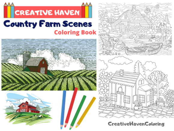 Creative Haven Farm Coloring Book Graphic Coloring Pages & Books Adults By coloringpages