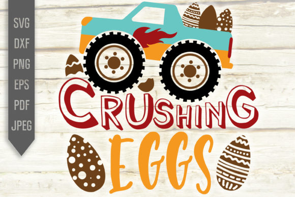Download Free Crushing Eggs Easter Monster Truck Graphic By Svglaboratory for Cricut Explore, Silhouette and other cutting machines.