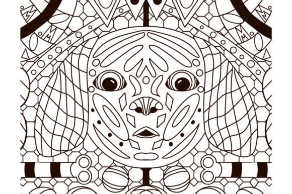 Print on Demand: Doggone Coloring Page Graphic Coloring Pages & Books Adults By Tranquil Lens Art