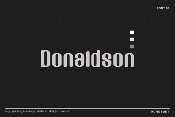 Print on Demand: Donaldson Display Fuente Por fontkong