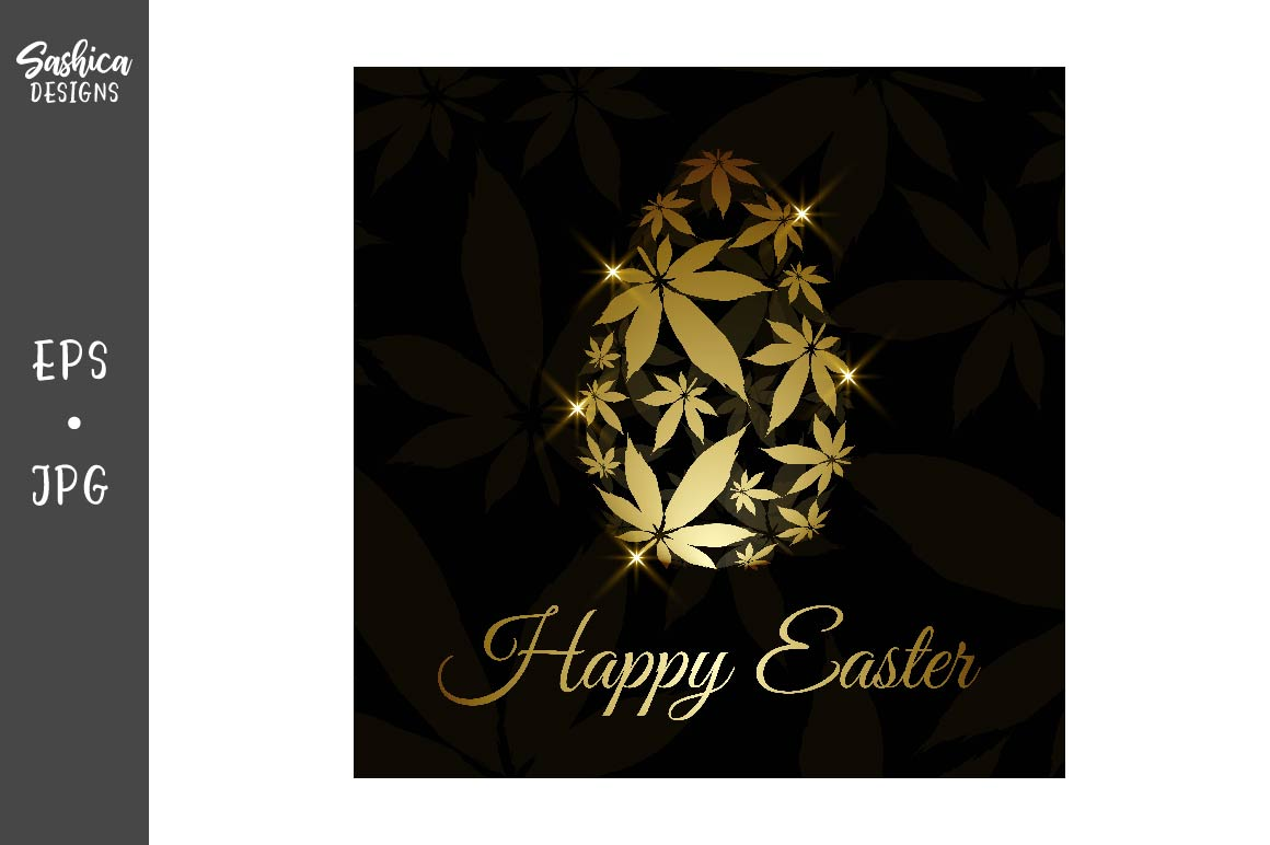 Easter Egg With Marijuana Leaves Vector Graphic By Sashica Designs Creative Fabrica