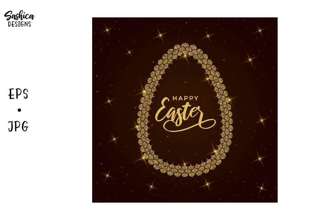 Download Free Easter Eggs With Mermaid Scales Vector Graphic By Sashica SVG Cut Files
