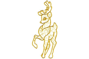 Enchanted Reindeer Waldtiere Stickdesign von Sookie Sews