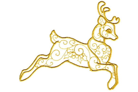 Enchanted Reindeer Woodland Animals Embroidery Design By Sue O'Very Designs
