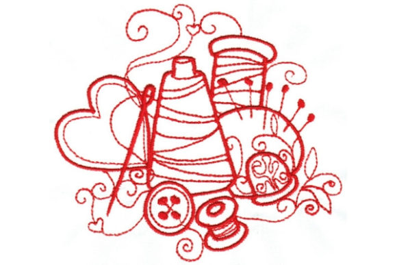 Enchanted Sewing Sewing & Crafts Embroidery Design By Sue O'Very Designs - Image 1