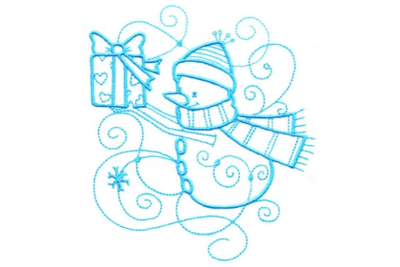 Enchanted Snowman Winter Embroidery Design By Sue O'Very Designs