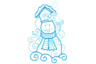 Enchanted Snowman Winter Embroidery Design By Sookie Sews