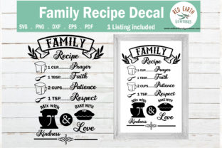 Family Recipe Kitchen Sign Making Graphic Crafts By redearth and gumtrees