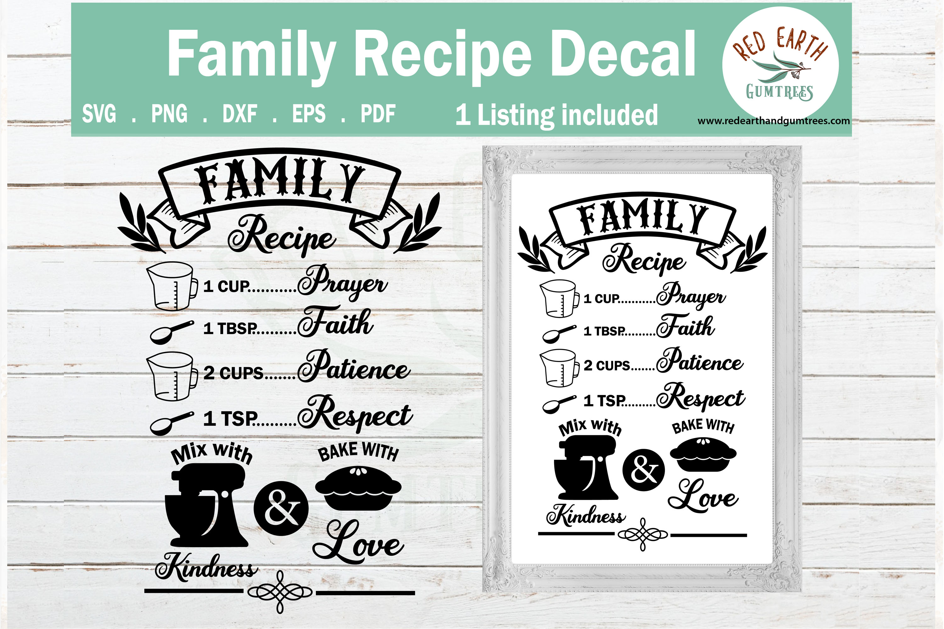 Download Free Family Recipe Kitchen Sign Making Graphic By Redearth And for Cricut Explore, Silhouette and other cutting machines.