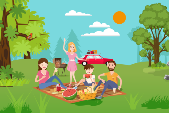 Download Free Family Spending Time Together Set Graphic By Ju Design for Cricut Explore, Silhouette and other cutting machines.