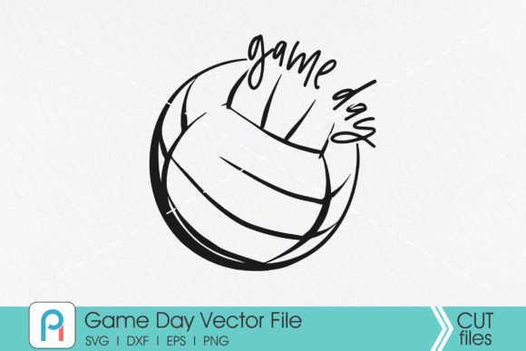 Download Free Game Day Volleyball Volleyball Graphic By Pinoyartkreatib for Cricut Explore, Silhouette and other cutting machines.