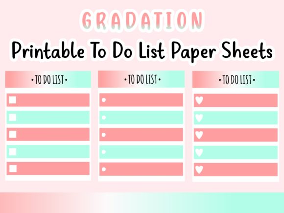 Download Free Gradation Printable To Do List Notes Graphic By Happy Kiddos for Cricut Explore, Silhouette and other cutting machines.