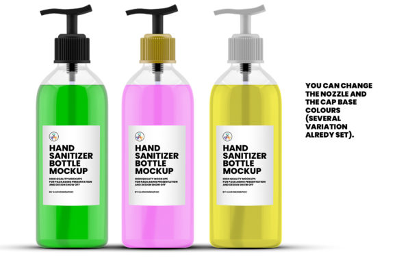 Download Free Hand Sanitizer Bottle Mockup Graphic By Illusiongraphicdesign Creative Fabrica PSD Mockup Template