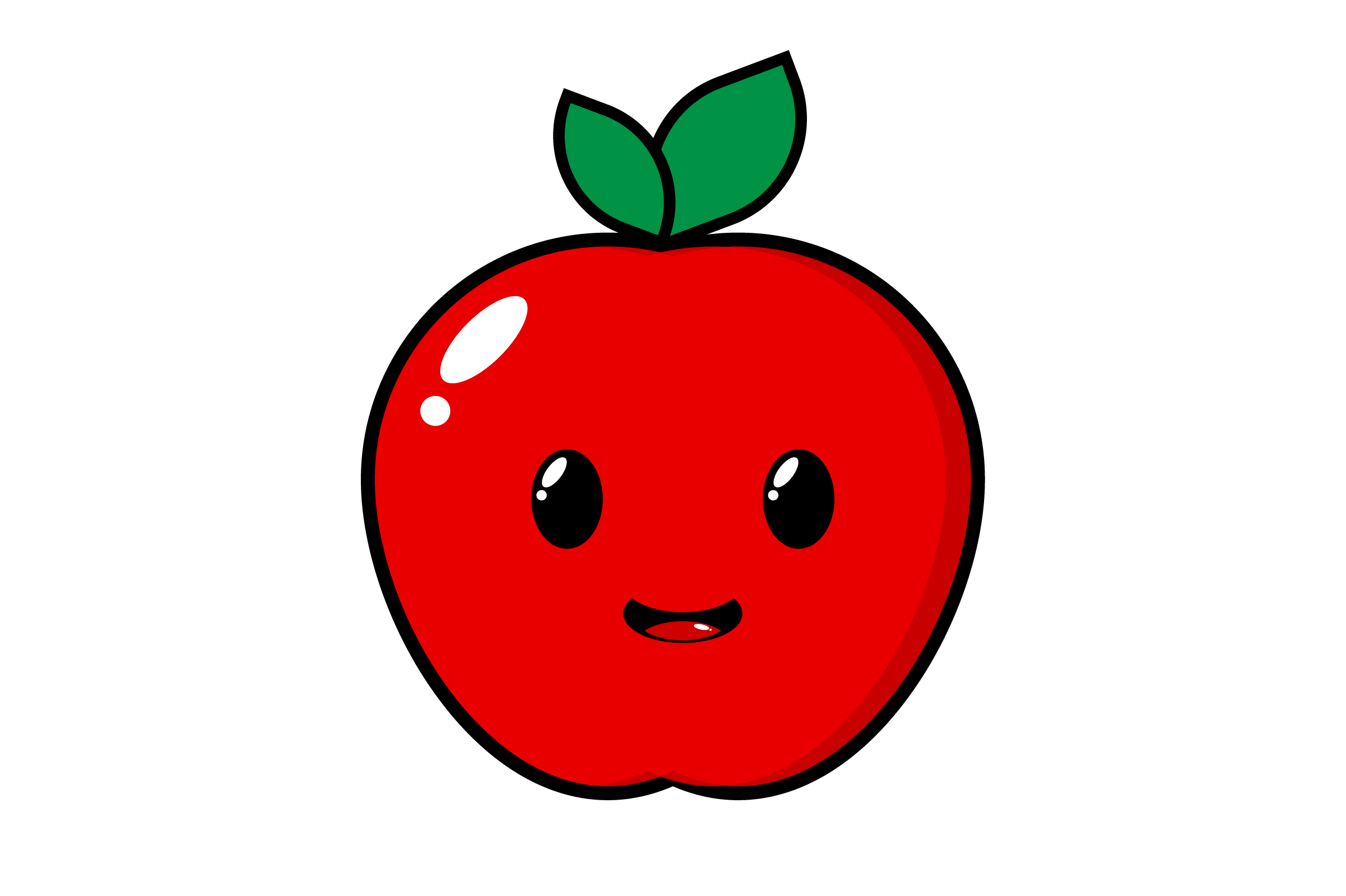 Download Free Happy Apple Clip Art Graphic By Masyafi Creative Studio for Cricut Explore, Silhouette and other cutting machines.