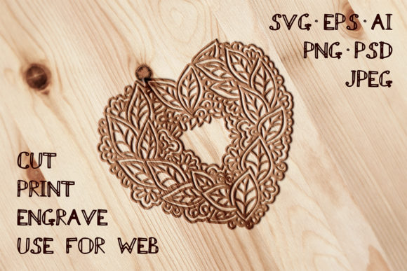 Heart Template Graphic Crafts By AV Design