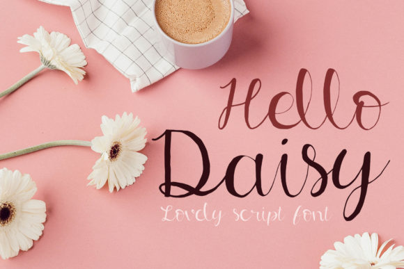 Print on Demand: Hello Daisy Script & Handwritten Font By thesomeday123