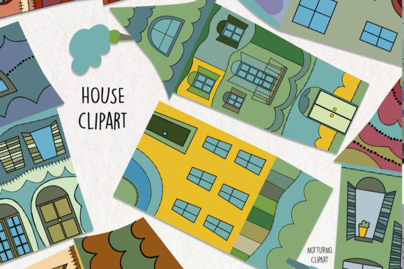 House Clipart. Home Graphics Graphic Crafts By NotturnoClipArt