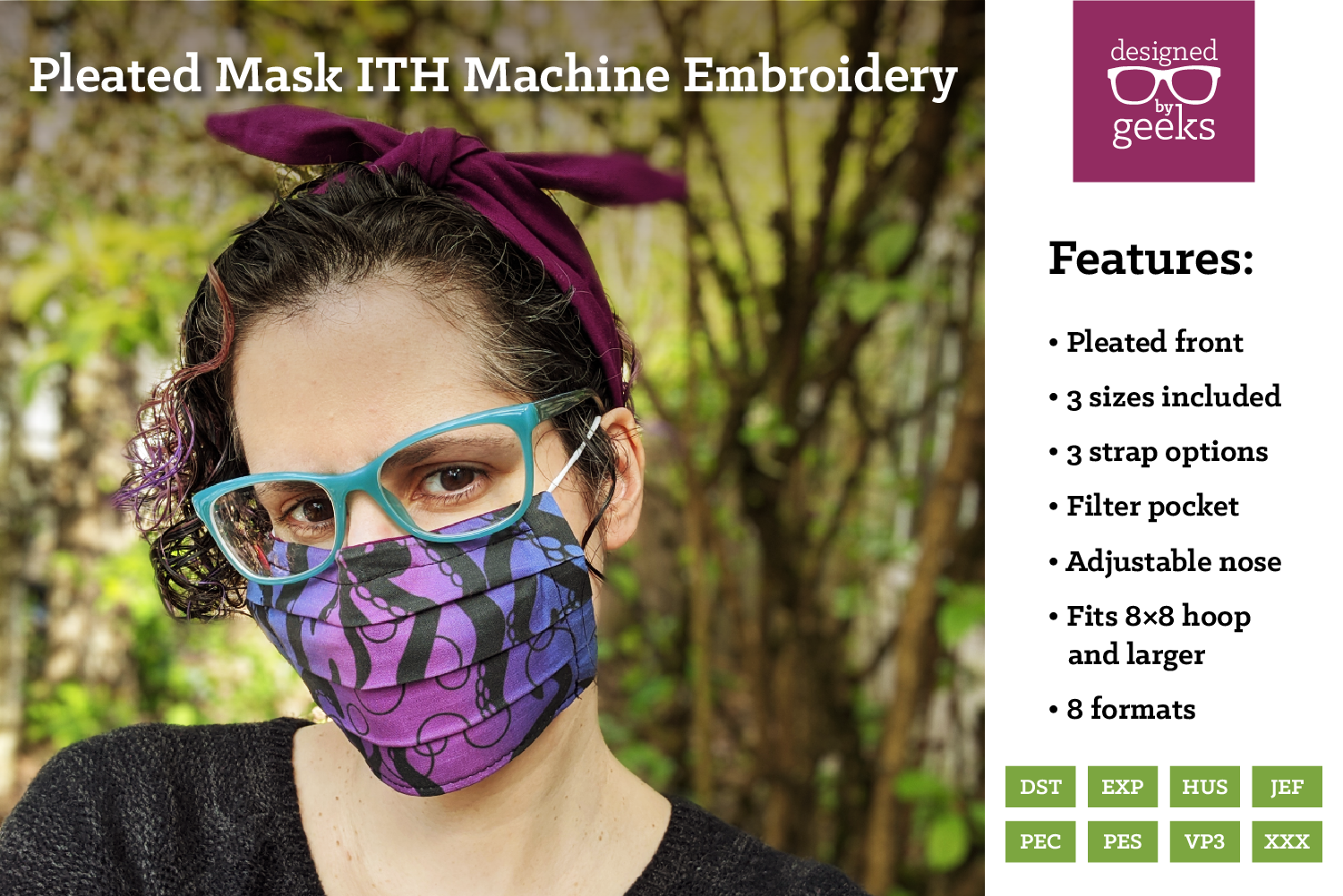 Download Free In The Hoop Pleated Face Mask Creative Fabrica for Cricut Explore, Silhouette and other cutting machines.