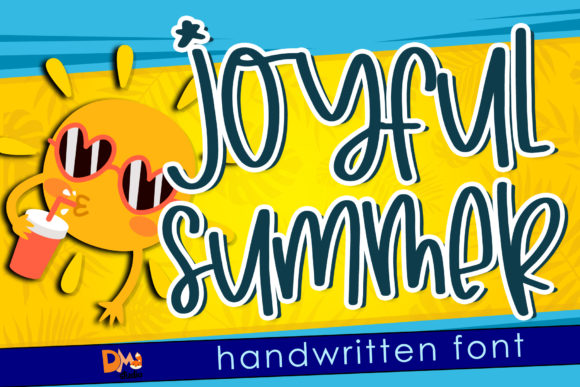 Print on Demand: Joyfull Summer Script & Handwritten Font By dmletter31