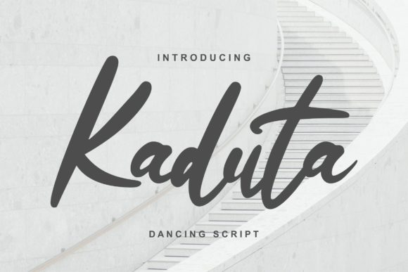 Print on Demand: Kaduta Script & Handwritten Font By Vunira